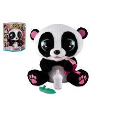 YOYO Panda interaktivní hýbající se 28cm plyš na baterie se zvukem v krabici 40x43cm 18m+
