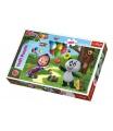 Trefl Puzzle Máša a Medvěd s přáteli 100 dílků 41x27,5cm v krabici 29x19x4cm