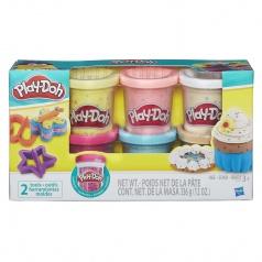 Play-Doh modelína sada s konfetami 6ks