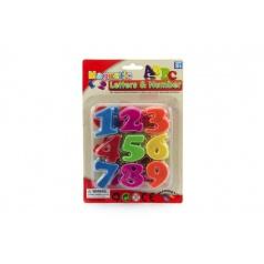 Teddies Magnetické číslice plast na kartě 14,5x22cm