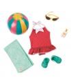 Our Generation Retro plážový obleček pro panenky 46cm