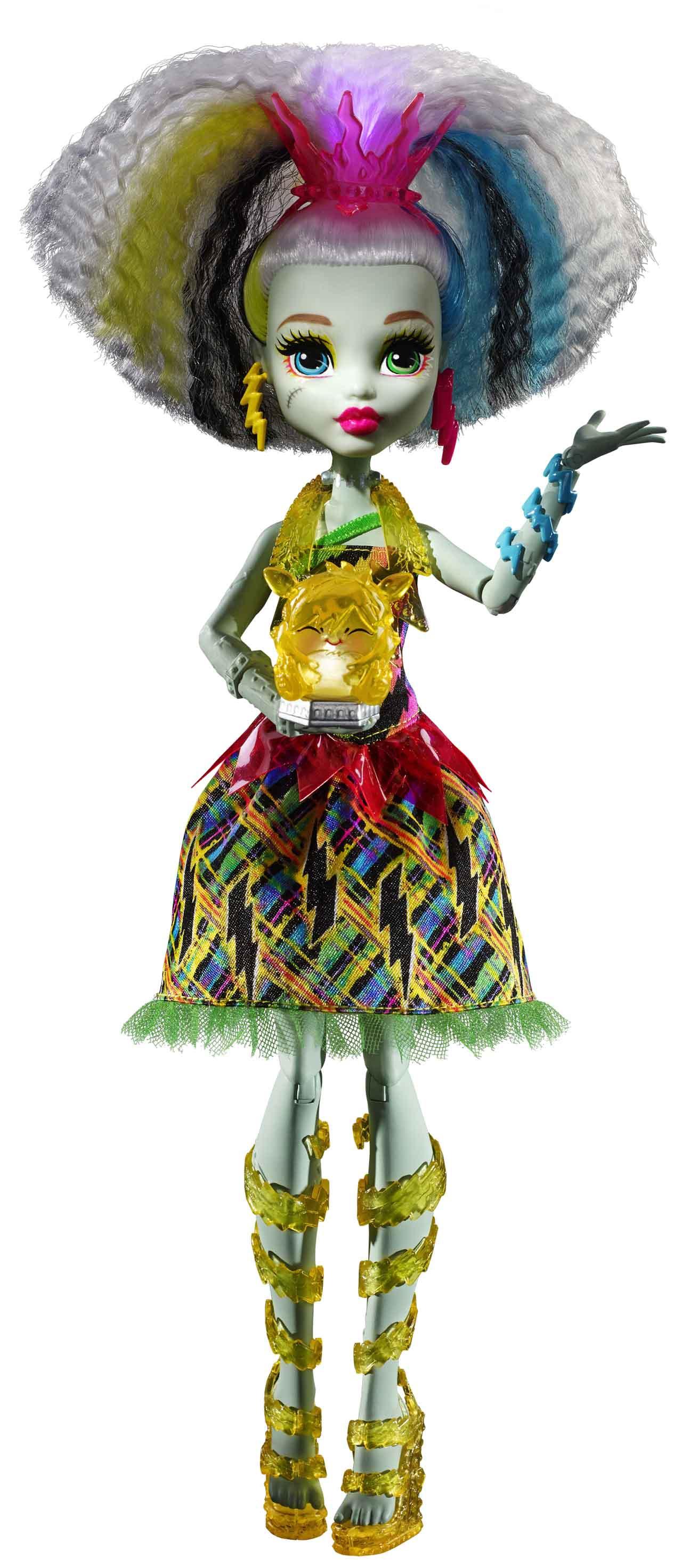 Mattel DVH72 Monster High panenka FRANKIE V MONSTRÓZNÍM NAPĚTÍ