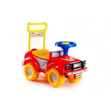 Teddies Dětské odrážedlo auto Jeep Yupee červené