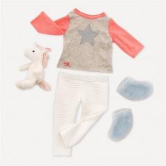 Our Generation Pyžamo s jednorožcem pro panenky 46cm