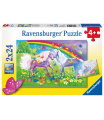 Ravensburger dětské puzzle Duhoví koníčci 2x24 dílků