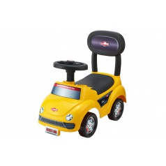Teddies Odrážedlo auto plast žluté výška sedadla 20cm v krabici 48x23,5x22,5cm