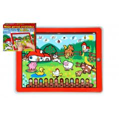 Teddies Tablet farma pre najmenších Moje prvé zvieratká 24x19x1,5cm na bat. so svetlom a zvukom v krabičke