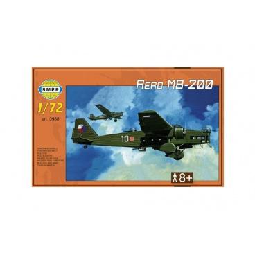 Směr Model Aero MB-200 1:72 22,3x31,2cm v krabici 35x22x5cm