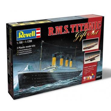 """Revell dárkové balení modelu lodě ke slepení sada Gift-Set 05727 - """"Titanic"""" (1:700 + 1:1200)"""