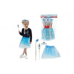 Teddies Kostým/sukně princezna Ledové království s doplňky v sáčku karneval