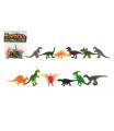 Teddies Zvířátka dinosauři mini plast 6-7cm 12ks v sáčku