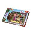 Trefl Puzzle maxi 24 dílků Máša a medvěd 60x40cm v krabici 40x27x5cm