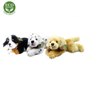 Rappa Plyšový pes ležící 30 cm ECO-FRIENDLY