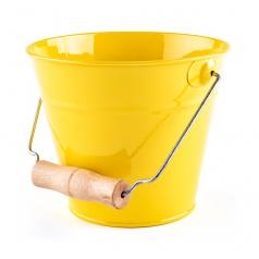Woody Zahradní kyblík - žlutý, kov
