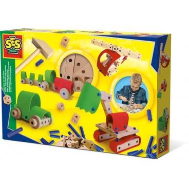 SES Dřevěná stavebnice vozidla