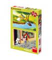Dino dětské puzzle Holky z pohádky 2x48D