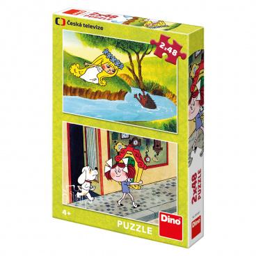 Dino Ostatní Dino dětské puzzle Holky z pohádky 2x48D