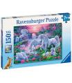 Ravensburger dětské puzzle Jednorožci při západu slunce 150 XXL dílků