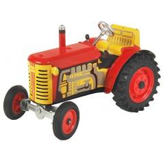 Kovap Traktor ZETOR červený - plastové disky