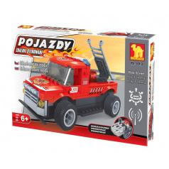 Dromader 20113 Auto RC Hasiči na vysílačku na baterie 185ks v krabici 34x21x7cm, Stavebnice
