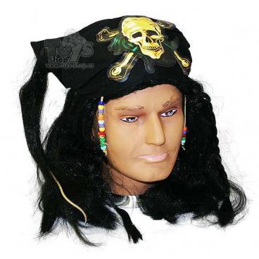 karnevalová paruka lux piráti z karibiku se šátkem