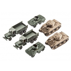 Revell Plastic ModelKit military 03350 - US Army vehicles WWII M4 Sherman & M8 Greyhound & CCKW Truck (1:144)