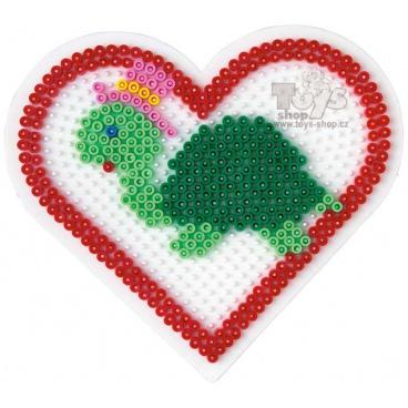 HAMA zažehlovací korálky - MIDI Podložka velké srdce
