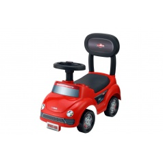 Teddies Odrážedlo auto plast červené výška sedadla 20cm v krabici 48x23,5x22,5cm