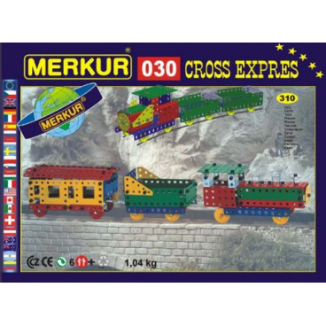 MERKUR kovová stavebnice CROSS expres
