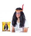 Karnevalová paruka indiánská pánská pro dospělé