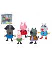 Prasátko Peppa/Peppa Pig plast set 5 figurek v maškarních šatech v krabičce 16x15x4,5cm
