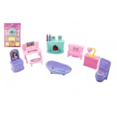 Teddies Nábytek pro panenky plast 2 druhy na kartě