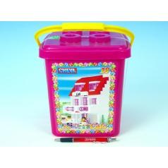 Chemoplast Stavebnice Cheva 18 Cukrárna plast 215ks v kbelíku 17x22x17cm