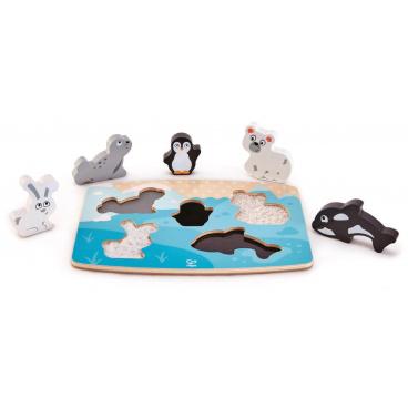 Hape Puzzle na desce - Polární zvířátka