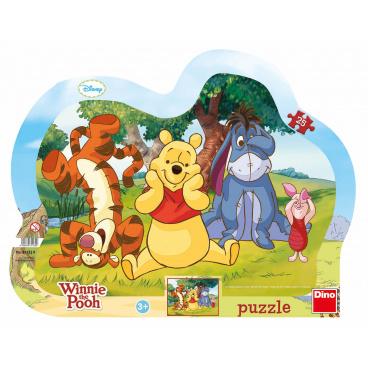 Dino dětské puzzle Disney Schovávaná s Medvídkem Pú 25D