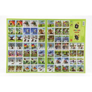 Akim Pexeso Krtek papírové společenská hra 32 obrázkových dvojic 22x30cm