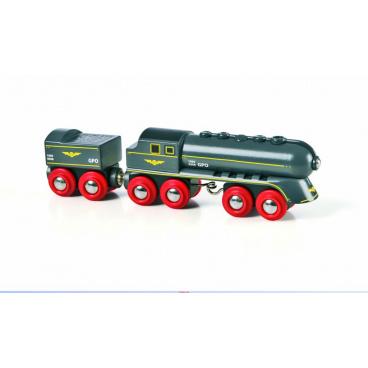 BRIO 33697 Rychlý šedý vlak s vagonem