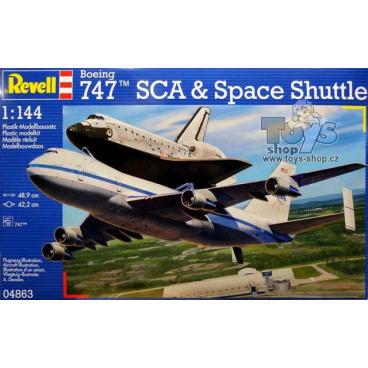 Revell letadlo 04863 Boeing 747 SCA & Space Shuttle (1:144)