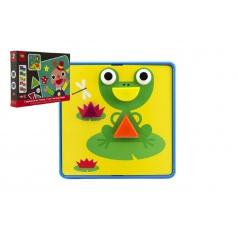 Mozaika puzzle 22 dílků 12 obrázků plast v krabici 35x27x5cm