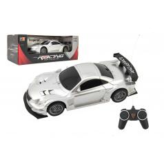 Teddies Auto RC sport plast 20cm stříbrné na baterie 27MHz v krabici 26x10x12cm