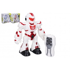 Wiky Robot RC plast 23 cm na baterie se světlem se zvukem 2 barvy v krabici 25x26x9,5cm