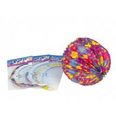 Lampion koule 25cm asst 4 barvy v sáčku karneval