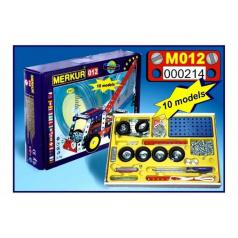 MERKUR - Stavebnice Merkur 012 Odtahové vozidlo, 217 dílů, 10 modelů