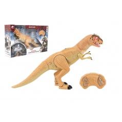 Teddies Dinosaurus chodící IC velociraptor plast 50cm na baterie se zvukem se světlem v krabici 53x32,5x12cm