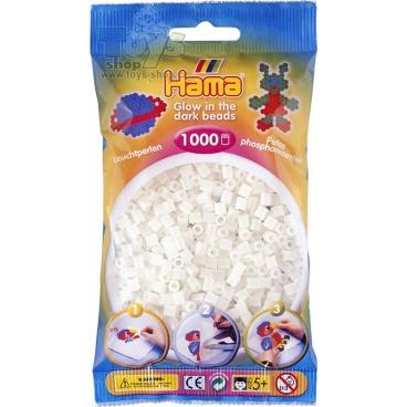 Hama Zažehlovací korálky Hama svítící ve tmě 1000ks v sáčku
