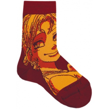 "Ponožky tenké ""Witch"" bordó, vel. 31/34"