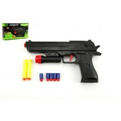 Teddies Pistole na pěnové náboje 2ks + špuntovka 5ks plast 30cm v krabici