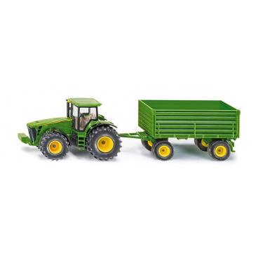 SIKU 1953 Farmer - traktor John Deere s vlekem, 1:50