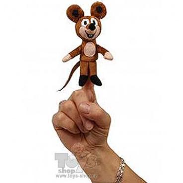 Moravská Ústředna Myška 8cm, prstový maňásek