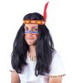 Rappa Karnevalová paruka indiánská pánská pro dospělé